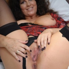 mature MILF shows panties 27 233x233